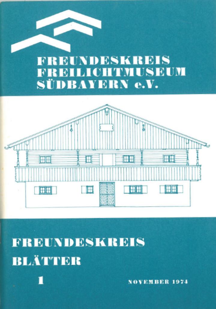 1974 ERSTES FREUNDESKREISBLATT