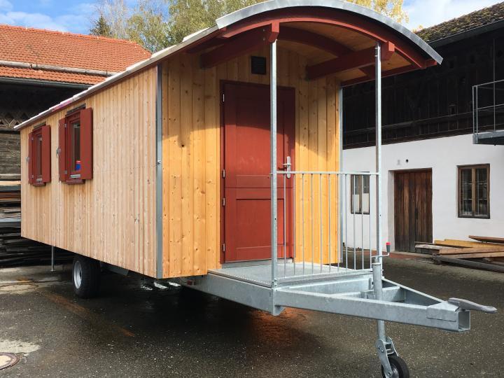 2020 Bauwagen für Köhlerei und Museumspädagogik/Biergartenbestuhlung am Salettl